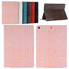 Crocodile Leather Case Flip Wallet Cover Auto Sleep For Apple iPad 9.7'' New