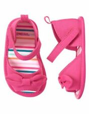 NWT Gymboree Birds and Dinos Pink Bow Crib Shoes Sandals Baby Girl Infant 3,4