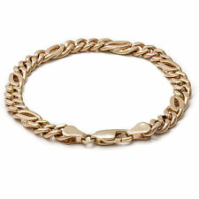 Solid 9k Gold 8.5mm Intertwined Curb Bracelet 19cm 20cm 21cm 22cm MADE TO ORDER