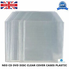 NEO CD DVD DISC CLEAR COVER PLASTIC 70 80 100 120 150 MICRON SLEEVE WALLET CASES
