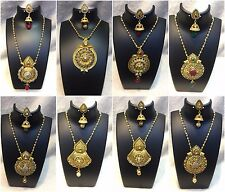Necklace & Earring Set Party Wear Fashion Jewelry Ruby CZ Indian Wedding Ethnic