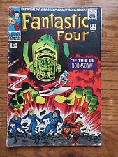 FANTASTIC FOUR 49 Silver Surfer + Galactus +Thing + Torch Marvel Comics VG-