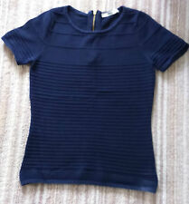 Ladies dark blue short sleeve top from Oasis size Small