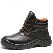 Work Shoes Safety Steel Toe Cap Rubber Boots Protective Puncture Protect Foot