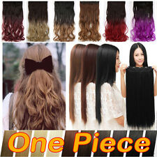 Thick Free Breathing Ombre Multi One Piece Clip in Hair Extension Long Soft T20