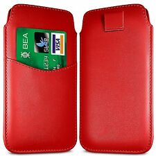 Card Slot PU Leather Pull Tab Flip Case Cover For Vodafone Smart First 6