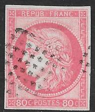 French Colonies stamps 1872 YV 21 signed Brun  CANC  VF