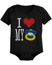 I Love My Pacifiers Funny Black Baby Onesie Great Gift Ideas