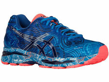 NEW MENS ASICS GEL-NIMBUS 18 RUNNING SHOES TRAINERS BLUE / NAVY / FLASH CORAL