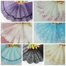 """6""""-6.5* 1yard delicate embroidered flower tulle lace trim for DIY/sewing/craft"""