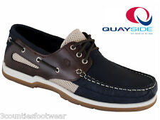 QUAYSIDE CAPE IN NAVY - PORTUGUESE MADE DECK SHOES SUPERB LEATHER BOAT SHOES