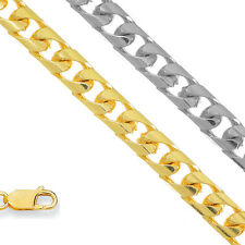 14k Solid Yellow Or White Gold 4.4mm Cuban Chain Bracelet Necklace
