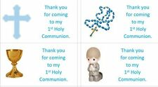 40 x Personalised 1st Holy Communion/Boys labels/stickers/party/cake/sweets/bag