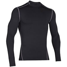 Under Armour Mens ColdGear Mock Compression Long Sleeve Shirt Save 30%!! Small
