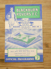 Blackburn Rovers Programmes 3