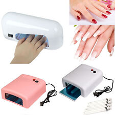9/36W Nail Polish profession Dryer Curing Gel Manicure UV Lamp Dryer+4 Tube Lamp