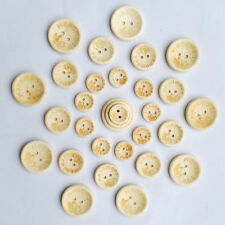 50PCS Round Sewing Handmade Crafts Butterfly Buttons 2 Holes Wooden Love DIY