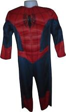 USED Boys Marvel Classics Spiderman All In One Costume Size 3-4 Years (T.H)