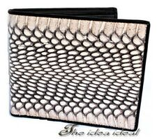 100% NEW COBRA SNAKE SKIN LEATHER MEN Bi-Fold COIN POCKET WALLET HANDMADE AAA