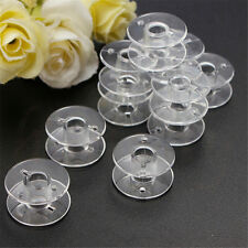 10~100pcs Clear Plastic Empty Bobbins For Brother Janome Singer Sewing Machines