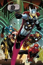 Avengers No.5 Cover: Thor, Captain America, Spider-Man, Iron Man, and Wolverine
