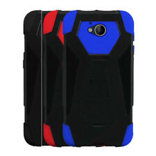 Phone Case For Cricket ZTE Fanfare 2, Hybrid Cover Case with Kickstand