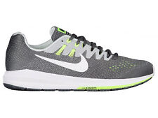 NEW MENS NIKE AIR ZOOM STRUCTURE 20 RUNNING SHOES TRAINERS DARK GREY / WHITE