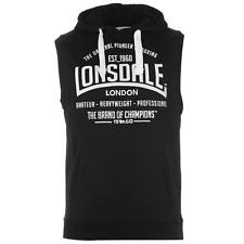 Lonsdale Mens Sleeveless Hoody Black New With Tags
