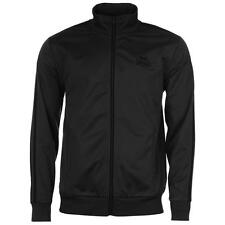 Lonsdale Mens Track Jacket Tracksuit Top Charcoal/Black New With Tags