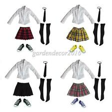 1:6 12'' Action Figure Accessories - Set of Schoolgirl Uniform & Canvas Shoes