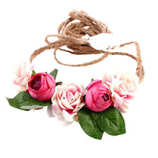 Boho Flower Headband Garland Festival Wedding Bridal Beach Hairband for Women