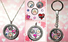 6-8pcs SISTER Personalised Custom Living Memory Floating Locket Charms Photo
