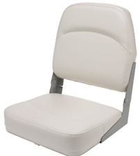 Folding Boat Seats White Fishing Bass Low Back Marine Padded Chair Boating New