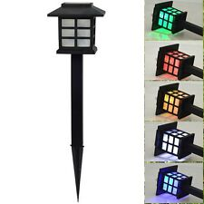 Hot Outdoor Solar Powered LED Lawn Path yard Garden Light Landscape Stake Lamp
