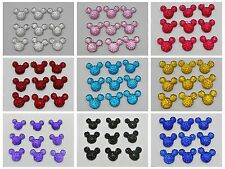 50 Flatback Resin Dotted Rhinestone Gems Mouse Face 14X12mm Pick Your Color