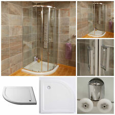 Quadrant Corner Shower Enclosure Cubicle Thick Glass Door With Shower Tray Inc