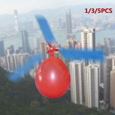 1/3/5PCS  Balloon Helicopte Flying DIY Flight Science Plane Children Toy XC