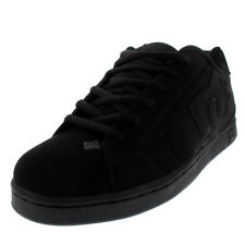 Mens DC Shoes Net Nubuck Black Skate Shoes Low Top Lace Up Punk Trainers UK 7-13