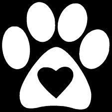 Love Paw Vinyl Decal Car Truck Window Sticker Puppy Dog Cat Kitten Heart Animal