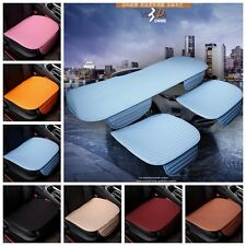 Comfort Car Front Seat Protect Mat Cover Pad Breathable Chair Cushion Flax Hot