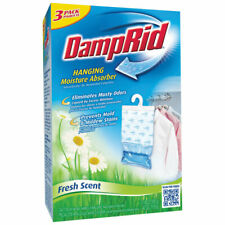 Damp Rid Hanging Moisture Absorber Fresh Scent Bag 14 oz 3 Pack