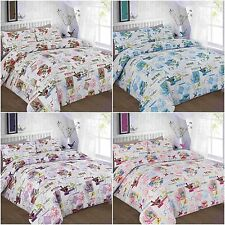 New & Modern TILLY Duvet Quilt Cover Bedding Set with Pillowcases, All sizes
