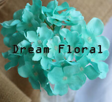 20Pc Artificial Silk Hydrangea Flower Heads Wedding Bridal Home Party Decoration