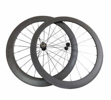 50+60mm Clincher Carbon Wheels Road Bicycle Road Bike Ceramic Bearing Wheelset