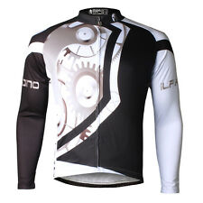 New Mens Cycling Jersey Long Sleeve Breathable Bike Clothing Sportswear S-3XL
