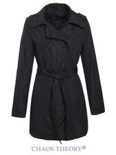 Brave Soul Womens Ladies Trench Mac Belted Jacket Double Breasted Coat
