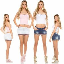 Women's Jeans Mini Skirt Denim 5 Pocket Stretch 34 36 sexy Party