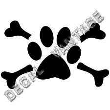 Paw With Crossbones Vinyl Sticker Decal Pet Adpot Dog Cat Choose Size And Color
