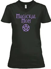Pagan Wiccan Magickal Mom Mother's Day BELLA+CANVAS Women's V-Neck Tee