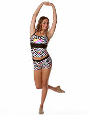 Adults SAFARI Camisole Singlet Top, Studio 7 NEW, Jazz Wear, Adjustable, print